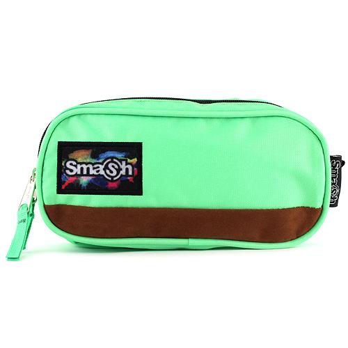 Školní penál bez náplně Smash zelený, 2 kapsy
