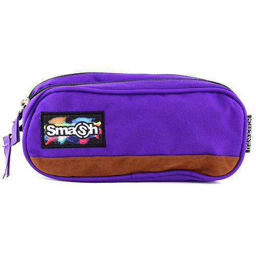 Školní penál bez náplně Smash fialový, 2 kapsy