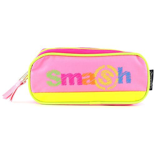 Školní penál bez náplně Smash tmavě růžový/světle růžový