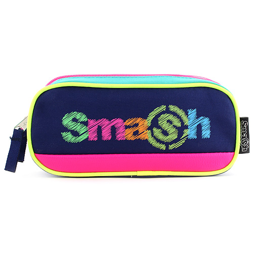 Školní penál bez náplně Smash zelený/tmavě modrý