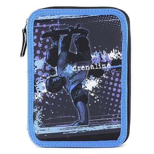 Školní penál s náplní Target Adrenaline, barva černo-modrá