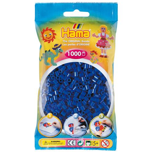 Korálky zažehlovací Hama modrá neonová, 1000ks