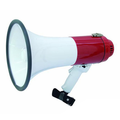 Fotografie Megafon Omnitronic 18W, délka 39 cm červený