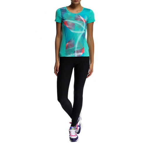Puma Ess Gym Graphic Tee pool green | S