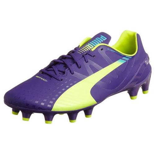 Puma evoSPEED 1-3 FG prism violet-fluro yellow-scuba blue | 10,5