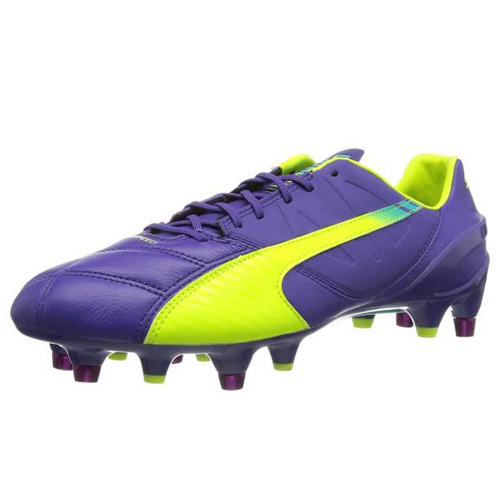 Puma evoSPEED 1-3 Lth Mixed SG prism violet-fluro yellow-scuba blue | 11
