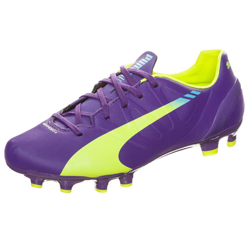 Puma evoSPEED 4-3 FG Jr prism violet-fluro yellow-scuba blue | 2,5
