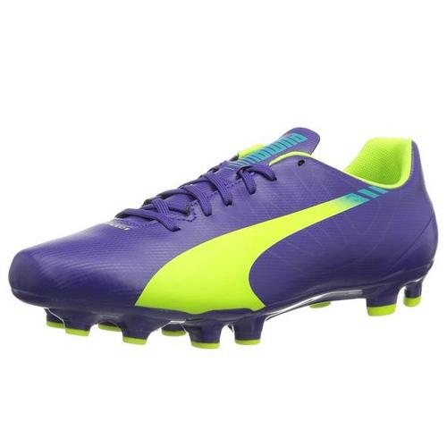Puma evoSPEED 5-3 FG prism violet-fluro yellow-scuba blue | 8,5