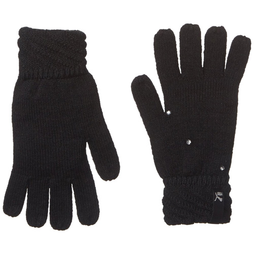 Puma Female Knit Gloves black | S