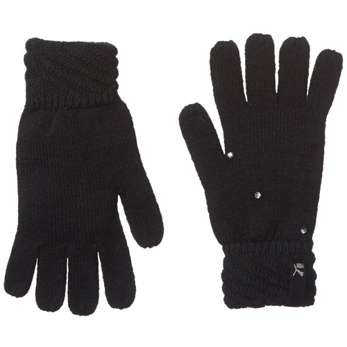 Puma Female Knit Gloves black | M