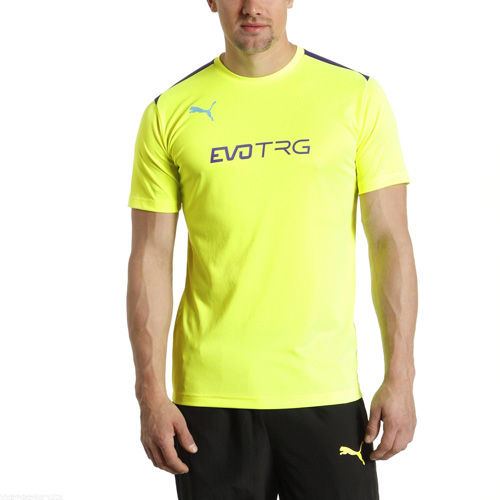 Puma IT evoTRG Training Tee fluro yellow-prism violet | 164