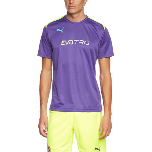 Puma IT evoTRG Training Tee prism violet-fluro yellow | 164