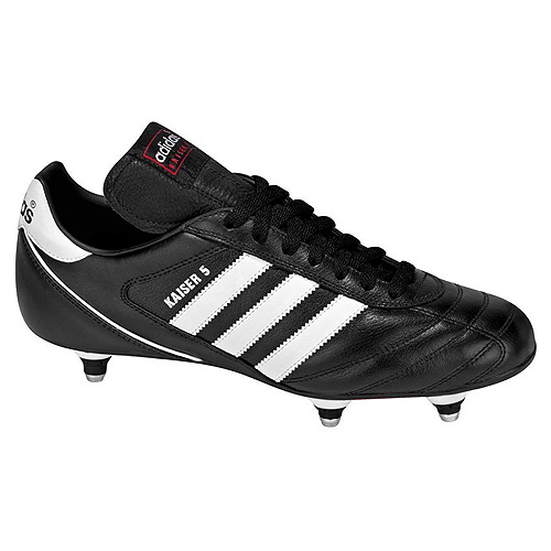Adidas KAISER 5 CUP FOOTBALL SHOES (SOFT GROUND) | BLACK/RUNWHT/RED | 8-