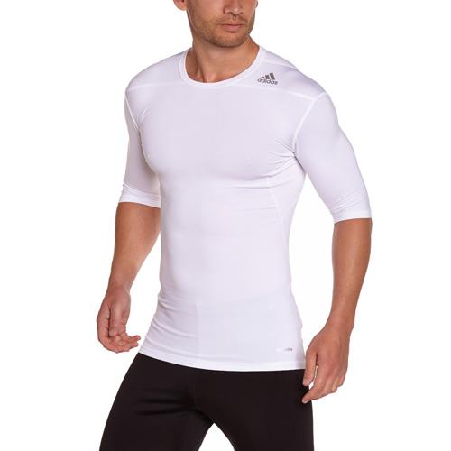 Termo tričko Adidas Techfit Base s krátkým rukávem | Bílá | M