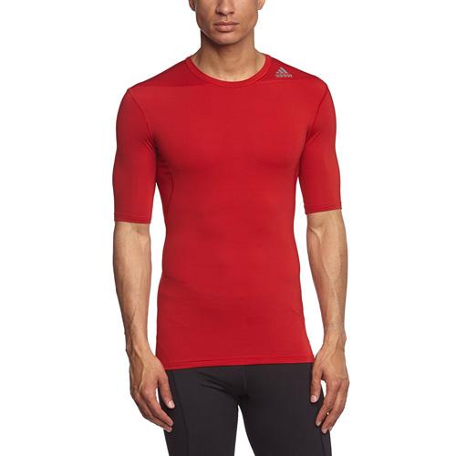Termo tričko Adidas Techfit Base s krátkým rukávem | Červená | S