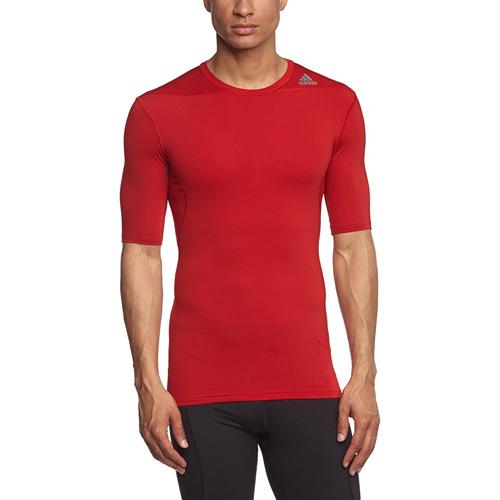 Termo tričko Adidas Techfit Base s krátkým rukávem | Červená | XL