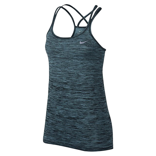 Nike W NK DF KNIT TANK 10 | RUNNING | WOMENS | TANK TOP/SINGLET | VIVID SKY/BLACK |