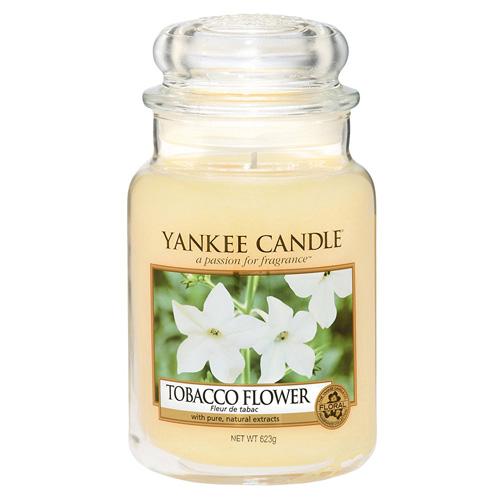 Svíčka ve skleněné dóze Yankee Candle Tobákový květ, 623 g