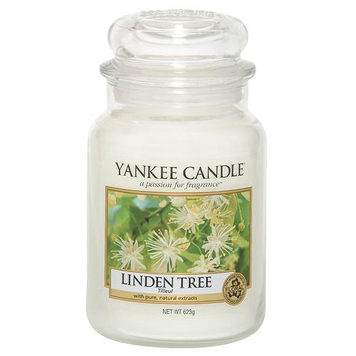 Svíčka ve skleněné dóze Yankee Candle Lipový strom, 623 g