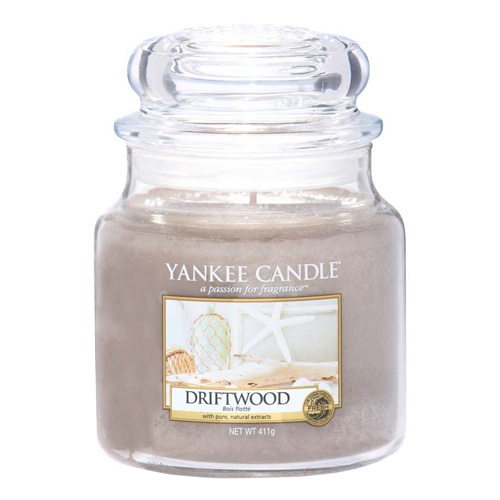 Svíčka ve skleněné dóze Yankee Candle Naplavené dřevo, 410 g