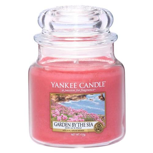 Svíčka ve skleněné dóze Yankee Candle Zahrada u moře, 410 g