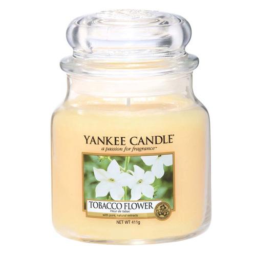 Svíčka ve skleněné dóze Yankee Candle Tobákový květ, 410 g