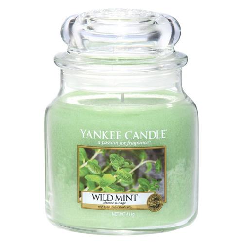 Svíčka ve skleněné dóze Yankee Candle Divoká máta, 410 g