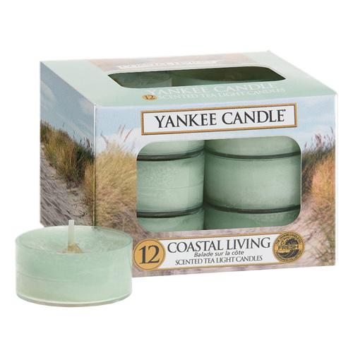 Svíčky čajové Yankee Candle Život na pobřeží, 12 ks