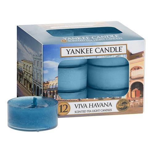 Svíčky čajové Yankee Candle Ať žije Havana, 12 ks