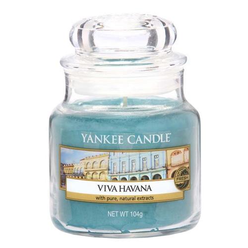 Svíčka ve skleněné dóze Yankee Candle Ať žije Havana, 104 g