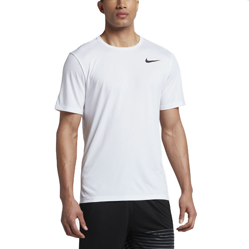 Nike M NK BRT TOP SS HPR DRY 10 | MEN TRAINING | MENS | SHORT SLEEVE TOP | WHITE/WHITE/BL