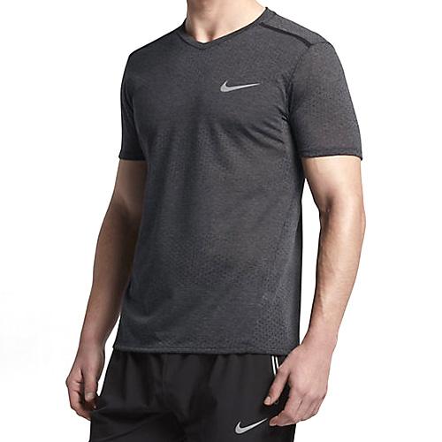 Nike M NK BRTHE TOP SS TAILWIND CLV 10   RUNNING   MENS   SHORT SLEEVE TOP   BLACK/HTR/BLACK   M