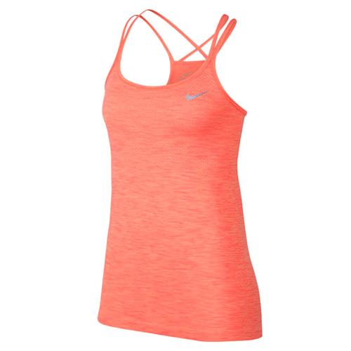 Nike W NK DF KNIT TANK 10   RUNNING   WOMENS   TANK TOP/SINGLET   SUNSET GLOW/RACER