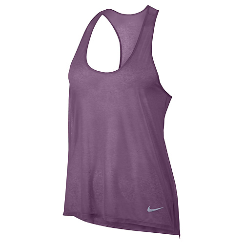 Nike W NK BRTHE TANK COOL 10   RUNNING   WOMENS   TANK TOP/SINGLET   ORCHID   S