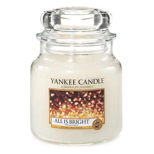 Svíčka ve skleněné dóze Yankee Candle Všechno jen září, 410g