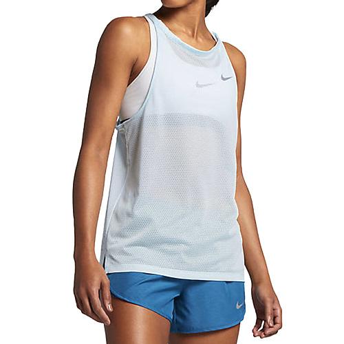 Nike W NK BRTHE TANK 10   RUNNING   WOMENS   TANK TOP/SINGLET   GLACIER BLUE/HTR