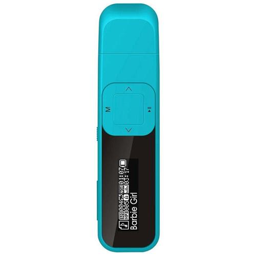MP3 přehrávač MP man MFOL15, 4GB, kompaktní, modrý