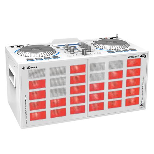 Párty reproduktor iDANCE XD3, 200W, Bluetooth, USB, FM tuner, světelné efekty