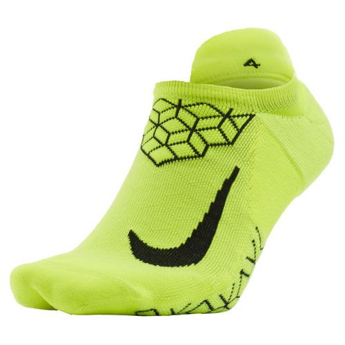 Nike U NK ELT CUSH NS 30 | RUNNING | ADULT UNISEX | NO SHOW SOCK | VOLT/BLACK | 14