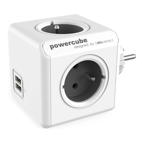Zásuvka PowerCube PowerCube ORIGINAL USB, Grey, 4 rozbočka, 2x USB