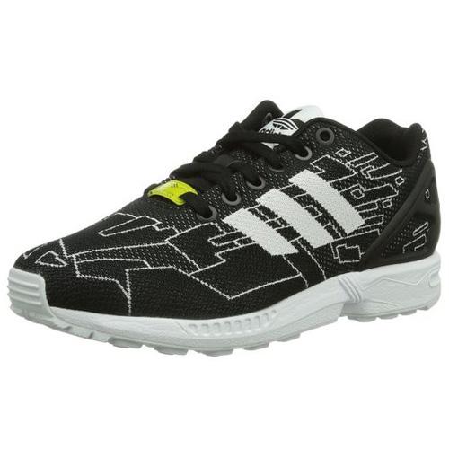 Adidas ZX FLUX WEAVE SHOES - LOW (NON FOOTBALL) | CBLACK/FTWWHT/ONIX | 4