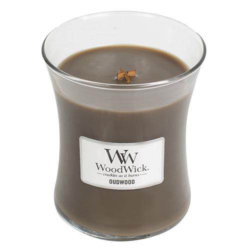 Svíčka oválná váza WoodWick Pryskyřice, 275 g
