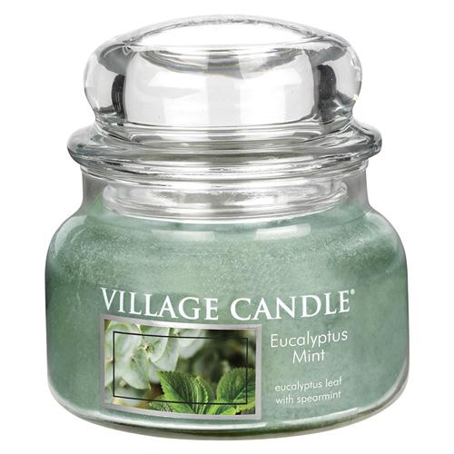 Svíčka ve skleněné dóze Village Candle Eucalyptus a máta, 312 g