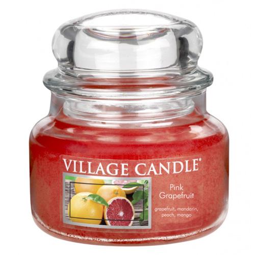 Svíčka ve skleněné dóze Village Candle Růžový grapefruit, 312 g