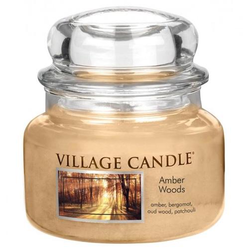 Svíčka ve skleněné dóze Village Candle Jantarový les, 312 g