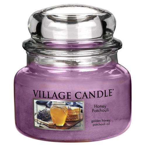 Svíčka ve skleněné dóze Village Candle Med a pačuli, 312 g