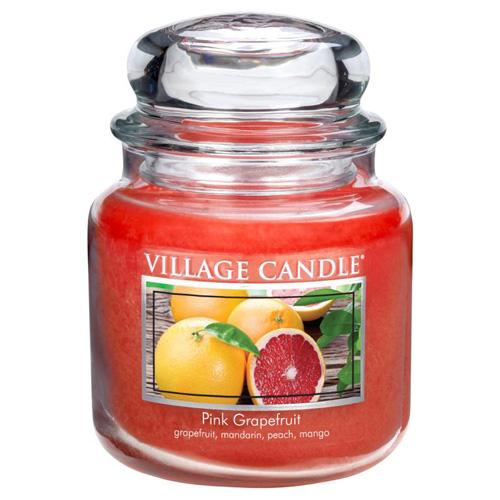 Svíčka ve skleněné dóze Village Candle Růžový grapefruit, 454 g
