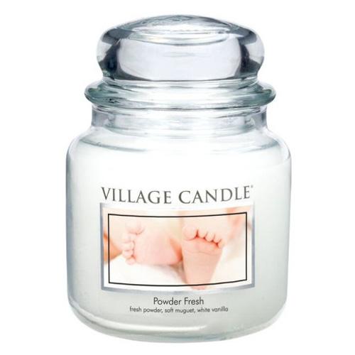 Svíčka ve skleněné dóze Village Candle Pudrová svěžest, 454 g