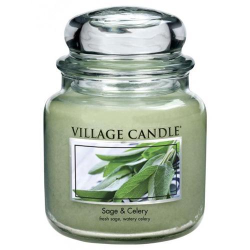 Svíčka ve skleněné dóze Village Candle Šalvěj a celer, 454 g