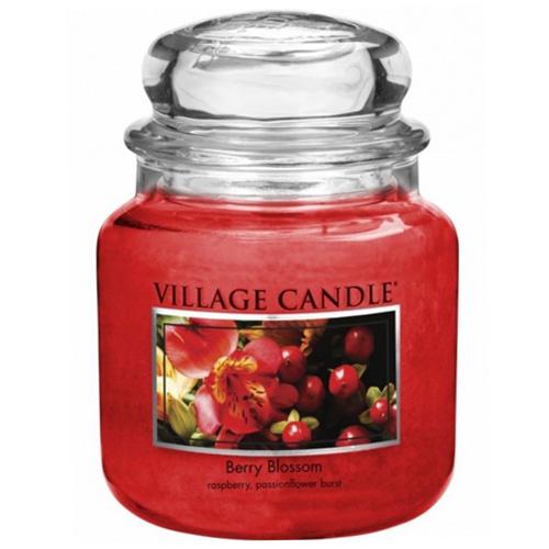 Svíčka ve skleněné dóze Village Candle Červené květy, 454 g